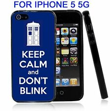 Tardis Keep Calm And Don't Blink For Iphone 5 5G Case Cover