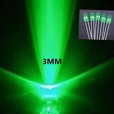 100Stk 3mm Grün ultra helle langlebig  LED-Licht-Lampen
