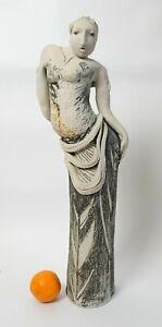 Lorraine Fernie (Scottish b.1941) tall studio pottery Female Figure