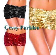 Sequins Jazz Dancewear Shorts Hot Pants Purple Pink Blue Green Gold Silver Red