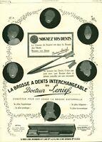 Publicité Ancienne brosse à dents du Docteur Lenief  1925  issue de magazine