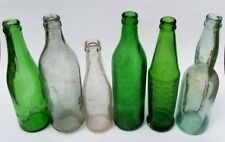 (6) ANTIQUE 1910-1920'S SODA BEER BOTTLES WEST END UTICA GREEN CANADA MTC BLOWN