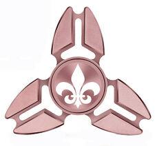 Fidget Spinner Tri-Spinner Aluminum Metal Fleur-de-lis