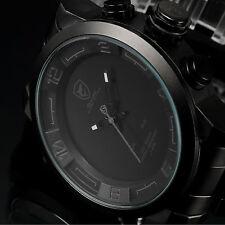 Shark Uomo Doppio LED Sport Watch Militare al quarzo giorno data allarme GRIGIO ACCIAIO + SCATOLA