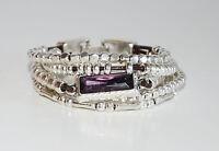 Pulseras de cuero,uno diferente de 50,hecha de mano,con  cristal violeta