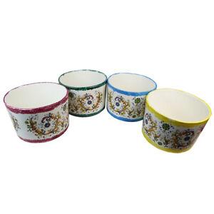 Vaso Cilindro Maiolica D. 26 H. 17 Ceramica Addobbi Decorazione