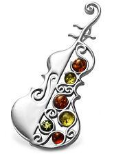 Cello Violine XL 5.9cm Kettenanhänger Musikinstrument Sterling-Silber 925 mit...