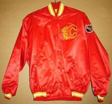 Calgary Flames Red Snap Front Nhl Jacket - Size Xxl