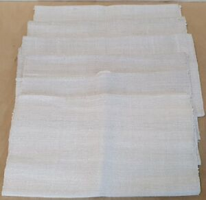 6 schöne alte Leinen Handtücher Handgewebt um 1900 Längsstreifen 0,38m x 0,90m