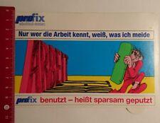 Aufkleber/Sticker: Pro fix wischtuch System nur wer die Arbeit kennt (190317132)