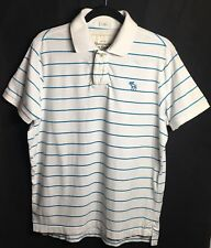 Abercrombie&Fitch AF Mens Polo Top Muscle Shirt Size XXL Blue White Short sleeve