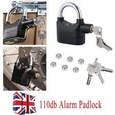 Alarm Heavy Duty Padlock Loud Siren Bicycle Shed Motion Sensor Security 110 Lock