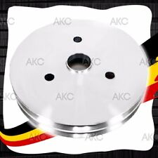 2 GROOVE CHROME ALUMINUM CRANK PULLEY FOR CHEVY SMALL BLOCK SHORT WATER PUMP
