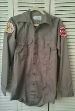 CFD Chicago Fire Department Mens Uniform Shirt Long Sleeve Olive Gray Buttons