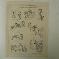 """7x10"""" punch cartoon 1923 BUSINESS AS USUAL DURING ALTERATIONS shopfitting"""