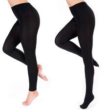 Ladies Thick Winter Thermal Leggings Black