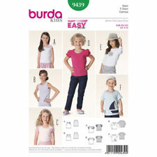 Burda Kids Easy SEWING PATTERN 9439 Childrens T-Shirts/Tops 3-12