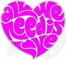 "All We Need Is Love Heart Beatles Lennon Car Bumper Vinyl Sticker Decal 4""X5"""