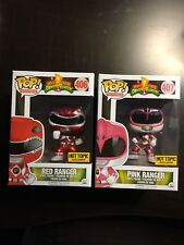 Funko Pop Vinyl Lot Power Rangers Red And Pink Rangers. NIB Hot Topic Exclusive