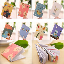 2Pcs Mini Diary Notebook Writing Paper Journal Travel Pocket Planner Note Pad