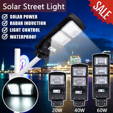 80W 80LED Solar Wall Street Light PIR Motion Sensor Outdoor LED Flood