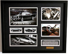 New 1965 Ford Mustang Fastback Limited Edition Memorabilia Framed