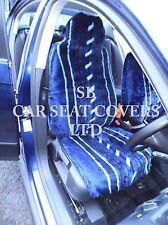 i - TO FIT A CITROEN C1 CAR, SEAT COVERS, 2 FRONTS, BLUE STRIPE FAUX FUR