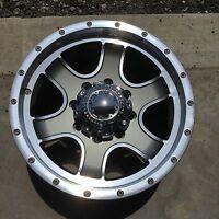 """17 Inch Ultra Wheels 8 Lug Nomad Gray Diamond Cut Wheel 8x6.5 +12mm 17""""x9"""