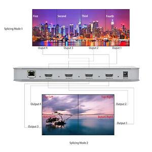 2x2 TV Video Wall Processor DVI HDMI Matrix Controller Splicer Splitter