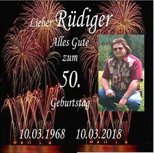 Geburtstags-Geschenk CD Lied +gesungener Vorname +FOTO 40.50.60.70.80.90.