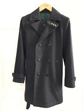 Diesel £500 RRP Brand New wool coat military style jacket dark grey size M
