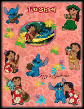 Vintage Hallmark Disney Lilo Stitch Cartoon Hawaiian Fun Kids Stickers