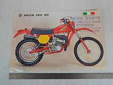 DEPLIANT ORIGINALE BETA 125 RC CROSS MOTOCROSS BROCHURE