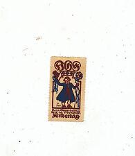 MISC 939  CINDERELLA POSTER STAMP REKLAMEMARKEN 1912 MUNICH GERMANY KINDERTAG