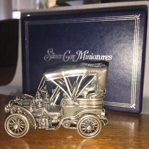 Franklin Mint Sterling Silver Miniature car 1903 Fiat w/original box
