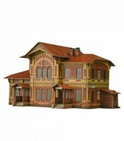 Building Depot Mozhaiskaya Station Railway Train HO Scale 1/87 Locomotive 3D