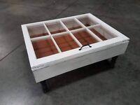 rustic farmhouse coffee table Storage Coffee Table Military Display Table