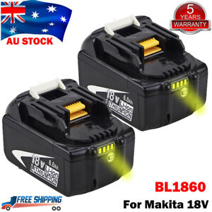 For Makita 18V 6.0Ah Battery LXT400 BL1830B BL1850B BL1860B Lithium Tools LED AU