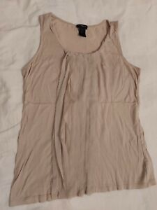 Women's Ann Taylor Vest Top Size XS Beige