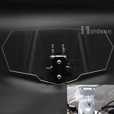 Motorcycle Windshields Adjustable Extension Spoiler Wind Deflector clear Acrylic