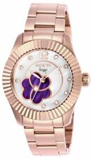 Invicta Stainless steel case with a rose gold-tone stainless steel bracelet. Ros