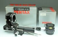 PENTAX SMC-M BELLOWS 100/4  + PENTAX AUTO BELLOWS M SET