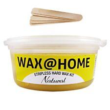 Wax@Home Stripless Microwavable Hard Wax Kit Natural 7oz. 200ml