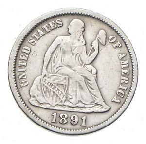 Full Liberty - 1891 Seated Liberty Silver Dime *353