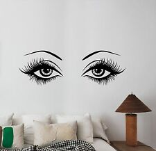 Woman Eyes Wall Decal Glamour Fashion Vinyl Sticker Art Beauty Salon Decor wes1