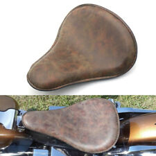 Synthetic Leather Retro Solo Driver Seat For Harley Suzuki Chopper Bobber Custom