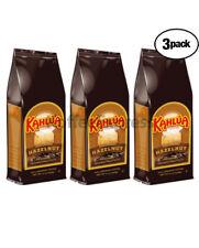 Kahlua Hazelnut Gourmet Ground Coffee 3 BAGS 12oz EACH