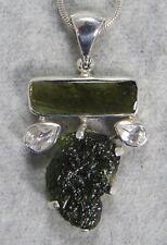 MOLDAVITE PENDANT $168 Tektite 925 Sterling Jewelry STARBORN CREATIONS MP168-4