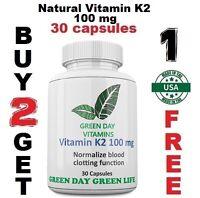 Natural Vitamin K2 - Menaquinone 7 (MK 7) 100 mcg