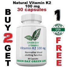 Natural Vitamin K2 - Menaquinone 7 (MK 7) 100 mg
